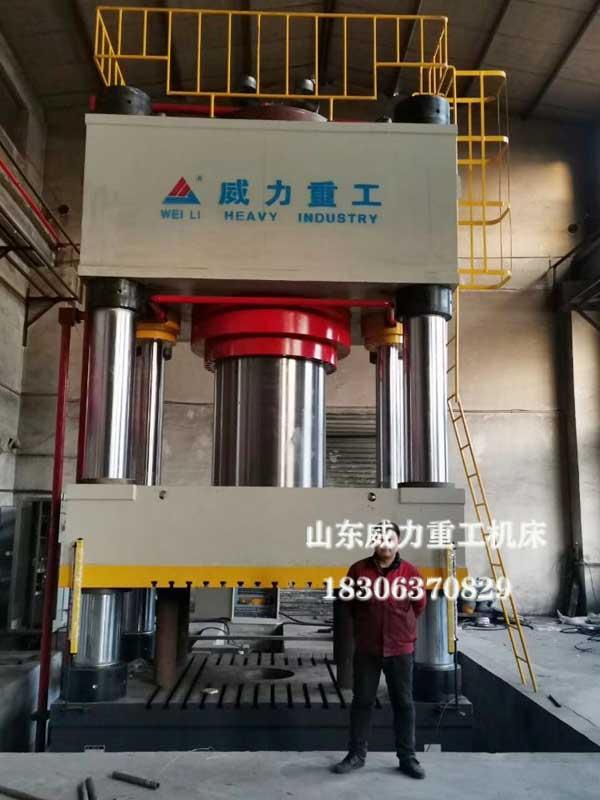 4000吨四柱液压机安装现场图